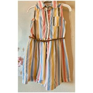 Striped Carters dress with belt